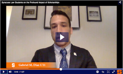 Impact of Law Scholarships video