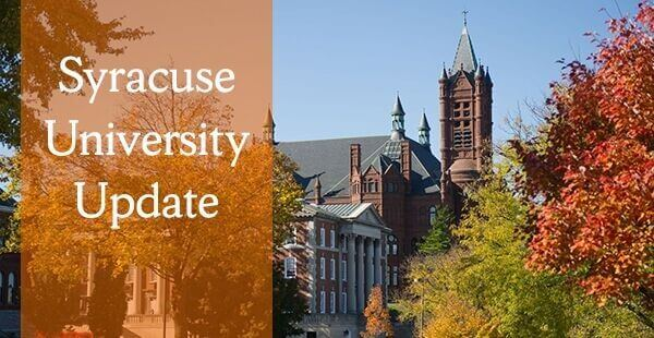 Fall View on Campus with Syracuse University Update text