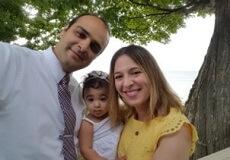 family photo of Majd and Shiva