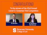 Grossman Trial Winners Alex Eaton and Tyler Jefferies