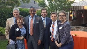 Dean Boise with alumni