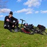 Matt Barbaccia and bike