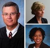 Hon. James P. Murphy L'84, Lisa Peebles L'92, and Staci Dennis Taylor L'14